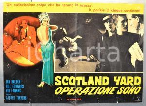 1966 SCOTLAND YARD OPERAZIONE SOHO Jan HOLDEN Bill EDWARDS Fotobusta 66x46 (3)