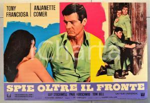1968 SPIE OLTRE IL FRONTE Tony FRANCIOSA Anjanette COMER Fotobusta 66x46 cm