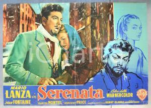 1956 SERENATA Mario LANZA Joan FONTAINE Sarita MONTIEL Fotobusta 66x46 cm (1)