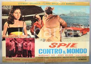 1966 SPIE CONTRO TUTTI Stewart GRANGER Pierre BRICE Lex BARKER Fotobusta (1)