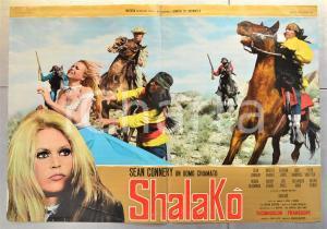 1968 SHALAKO Sean CONNERY Brigitte BARDOT Stephen BOYD Fotobusta WESTERN 66x46