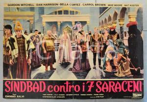 1964 SINBAD CONTRO I 7 SARACENI Gordon MITCHELL Bella CORTEZ Fotobusta 66x46 cm