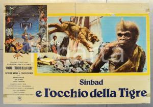 1977 SINBAD E L'OCCHIO DELLA TIGRE Ray HARRYHAUSEN Patrick WAYNE Fotobusta 66x46