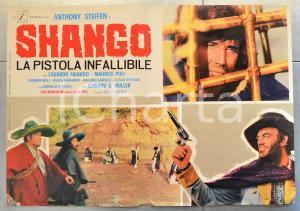 1970 SHANGO - LA PISTOLA INFALLIBILE Anthony STEFFEN Fotobusta WESTERN 66x46 cm