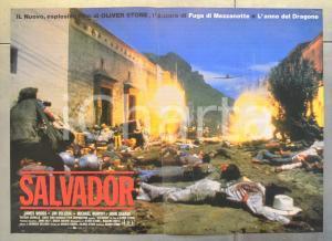1986 SALVADOR James WOODS Jim BELUSHI John SAVAGE Oliver STONE Fotobusta 60x40