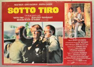1983 SOTTO TIRO Nick NOLTE Gene HACKMAN Joanna CASSIDY Fotobusta 66x46 cm