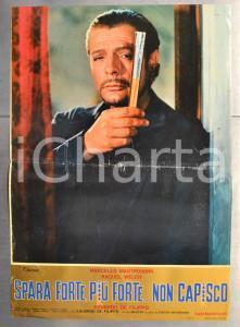 1966 SPARA FORTE, PIÙ FORTE...NON CAPISCO Marcello MASTROIANNI Fotobusta 66x46