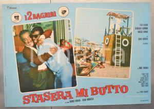 1967 STASERA MI BUTTO - FRANCO E CICCIO Rocky ROBERTS Fotobusta 66x46 cm
