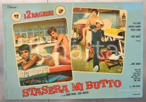1967 STASERA MI BUTTO - FRANCO E CICCIO Lola FALANA Fotobusta DANNEGGIATA 66x46