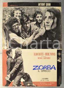 1964 ZORBA IL GRECO Anthony QUINN Irene PAPAS Alan BATES Fotobusta 66x46 cm (1)