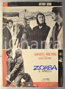 1964 ZORBA IL GRECO Anthony QUINN Irene PAPAS Alan BATES Fotobusta 66x46 cm