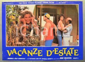 1985 VACANZE D'ESTATE Enzo CANNAVALE - BOMBOLO Yari PORZIO Fotobusta 66x46 cm