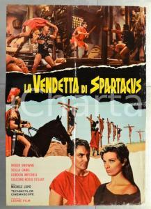 1965 LA VENDETTA DI SPARTACUS Roger BROWNE Scilla GABEL Manifesto 94x67 cm