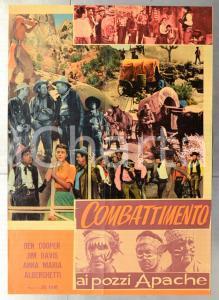 1957 COMBATTIMENTO AI POZZI APACHE Ben COOPER Jim DAVIS Manifesto 67x94 cm