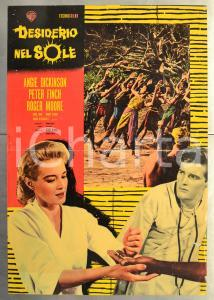 1961 DESIDERIO AL SOLE Angie DICKINSON Roger MOORE Peter FINCH Fotobusta 46x66