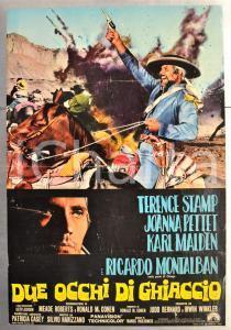 1968 DUE OCCHI DI GHIACCIO Terence STAMP Ricardo MONTALBAN Fotobusta 66x46 cm