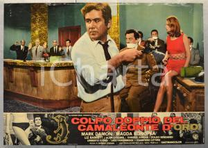 1967 COLPO DOPPIO DEL CAMALEONTE D'ORO Mark DAMON Fotobusta 66x46 cm (2)