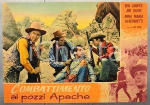 1957 COMBATTIMENTO AI POZZI APACHE Ben COOPER Jim DAVIS Fotobusta 66x46 cm (1)