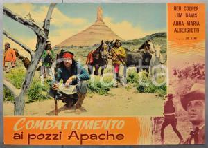 1957 COMBATTIMENTO AI POZZI APACHE Ben COOPER Jim DAVIS Fotobusta 66x46 cm