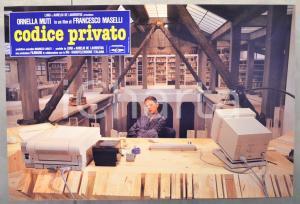 1988 CODICE PRIVATO Ornella MUTI - Regia di Citto MASELLI Fotobusta 61x41 cm