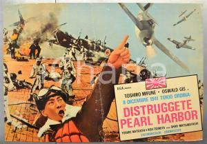 1960 DISTRUGGETE PEARL HARBOR Toshiro MIFUNE Oswald GIS Fotobusta 66x46 cm (2)