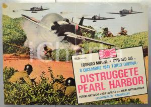 1960 DISTRUGGETE PEARL HARBOR Toshiro MIFUNE Oswald GIS Fotobusta 66x46 cm (1)