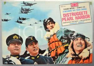 1960 DISTRUGGETE PEARL HARBOR Toshiro MIFUNE Oswald GIS Fotobusta 66x46 cm