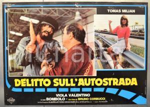 1982 DELITTO SULL'AUTOSTRADA Tomas MILIAN - BOMBOLO Fotobusta 66x46 cm