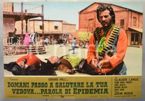 1972 DOMANI PASSO A SALUTARE LA TUA VEDOVA...PAROLA DI EPIDEMIA Fotobusta 66x46