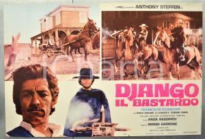 1969 DJANGO IL BASTARDO Anthony STEFFEN Lu KAMANTE Paolo GOZLINO Fotobusta 66x46