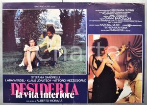 1980 DESIDERIA: LA VITA INTERIORE Stefania SANDRELLI Lara WENDEL Fotobusta 66x46