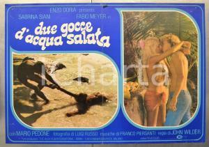 1982 COME DUE GOCCE D'ACQUA SALATA Sabrina SIANI Fabio MEYER Fotobusta 66x46 cm