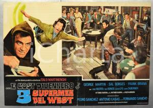 1973 E COSÌ DIVENNERO I 3 SUPERMEN DEL WEST George MARTIN Fotobusta 66x46 cm