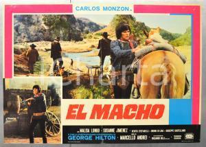 1977 EL MACHO Carlos MONZON Malisa LONGO Susanne JIMENEZ Fotobusta 66x46 cm