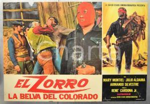 1973 EL ZORRO - LA BELVA DEL COLORADO Julio ALDAMA Fotobusta 66x46 cm