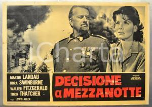 1964 DECISIONE A MEZZANOTTE Martin LANDAU Nora SWINBURNE Fotobusta 66x46 cm
