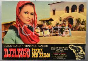 1966 DJANGO SPARA PER PRIMO Glenn SAXON Evelyn STEWART Fotobusta 66x46 cm