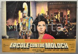 1963 ERCOLE CONTRO MOLOCH Gordon SCOTT Alessandra PANARO Fotobusta 66x46