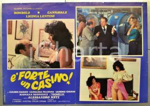 1982 È FORTE UN CASINO! Enzo CANNAVALE - BOMBOLO Licinia LENTINI Fotobusta 66x46