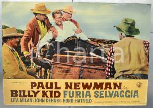 1958 BILLY KID FURIA SELVAGGIA Paul NEWMAN Lita MILAN John DEHNER Fotobusta