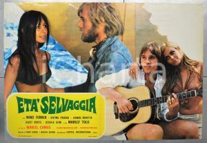 1971 ETÀ SELVAGGIA Nino FERRER Katine PAXINU Marilù TOLO Fotobusta 66x46 cm