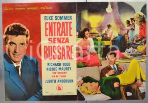 1965 ENTRATE SENZA BUSSARE Elke SOMMER Richard TODD Fotobusta 66x46 cm (2)