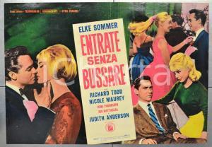 1965 ENTRATE SENZA BUSSARE Elke SOMMER Richard TODD Fotobusta 66x46 cm (1)