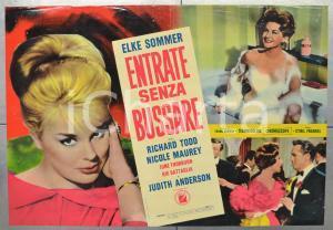 1965 ENTRATE SENZA BUSSARE Elke SOMMER Richard TODD Fotobusta 66x46 cm