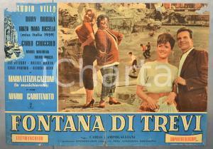 1960 FONTANA DI TREVI Grazie Maria BUCCELLA Fotobusta DANNEGGIATA 66x46 cm (1)