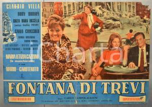 1960 FONTANA DI TREVI Grazie Maria BUCCELLA Fotobusta DANNEGGIATA 66x46 cm