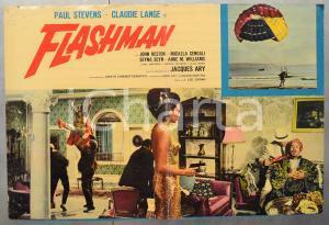 1967 FLASHMAN Paul STEVENS Claudie LANGE Fotobusta DANNEGGIATA 66x46 cm