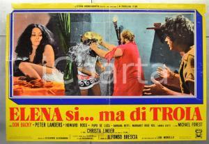 1973 ELENA SI...MA DI TROIA Don BACKY Barbara BETTI Fotobusta DANNEGGIATA 66x46