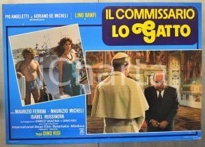 1986 IL COMMISSARIO LO GATTO Lino BANFI e il Papa - Regia Dino RISI Fotobusta