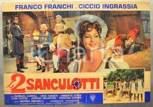 1966 I 2 SANCULOTTI Franco e Ciccio - Barbara CARROLL Fotobusta 66x46 cm